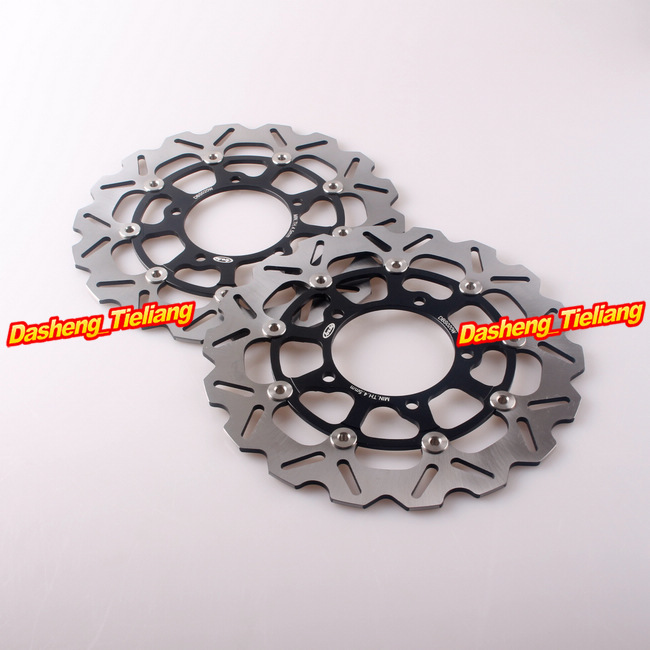 Arashi Front Brake Disc Rotors For Suzuki 2006 2007 GSXR 600 750 & 2005-2008 GSXR1000 GSX-R 1000, Black Color full set front rear brake discs disks rotors pads for suzuki gsxr 750 94 95 gsx r 1100 p r s t 1993 1994 1995 1996