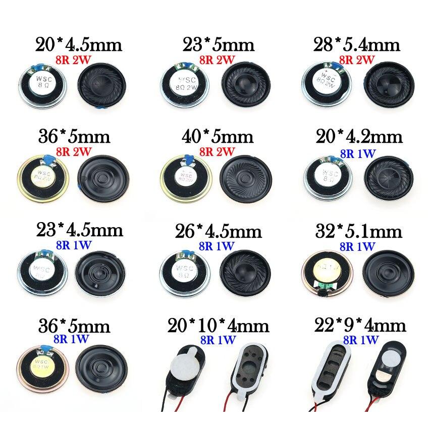 YuXi 1PCS 8 ohm 1W 2W Horn Loudspeaker 8R 1/2W 20mm 22mm 23mm 26mm 28mm 32mm 36mm 40mm Loud Speaker Replacement Part.(China)
