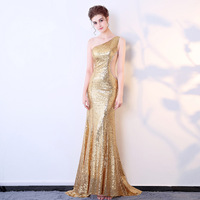 Off Shoulder Dress Sequins Celebrity Party Plus Size Sexy Bodycon 2017 Women Halloween Runway Club Ladies Prom Long Dresses