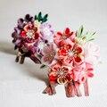 Японский Ручной Шар-цветок Шпилька с кисточкой, Семь Пять Три Выпускные Свадебная Церемония Взрослых Кимоно Юката