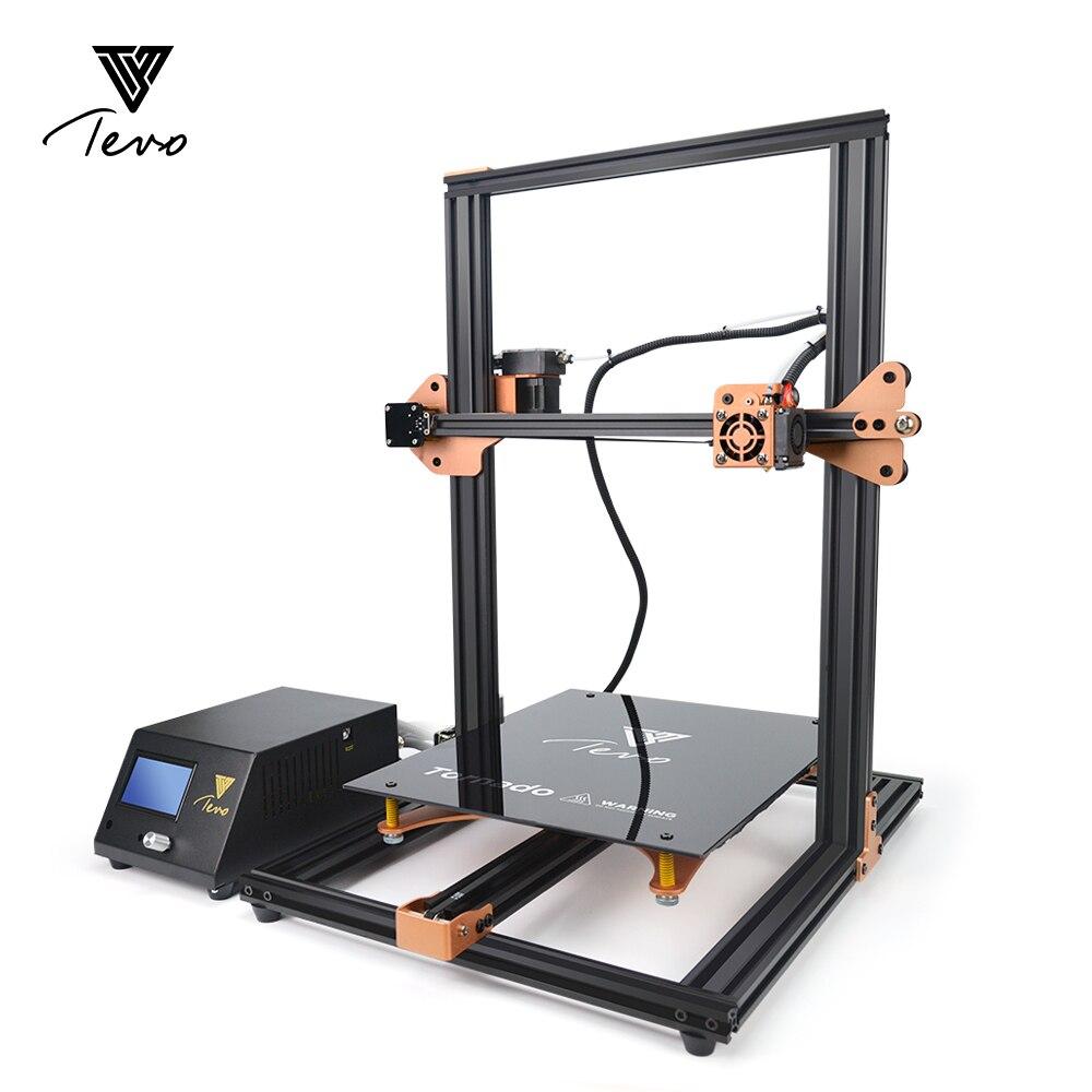 Mais novo TEVO Tornado Atualizado Impressora de cama Aquecida 3D Totalmente Montado Extrusora de Extrusão De Alumínio Máquina de Impressão 3D Titan