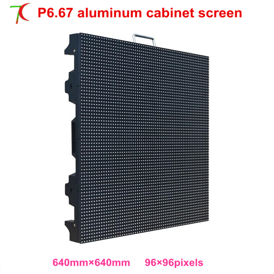 P6.67 smd outdoor same size as P5 outdoor 640*640mm rental cabinet widely use for in stages, conference, wedding, studio ,6000cd ...