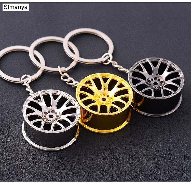Wheel Rim Key Chain Hot SALE High Quality Metal Keychain Car Key Chain Key Ring Wheel Hub Key Ring Wholesale #1-17156