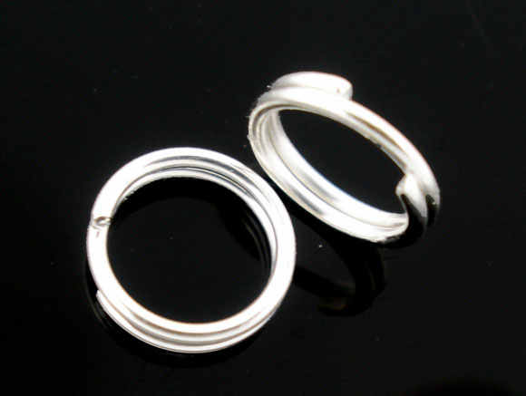 400 PCs Silver Plated Double Loops Split Open Jump Rings 4mm Dia. Findings new