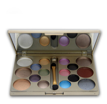 16 Colors Eyeshadow Palette Naked Smoky Diamond Metallic Balm EyeShadow With Brush Makeup Set