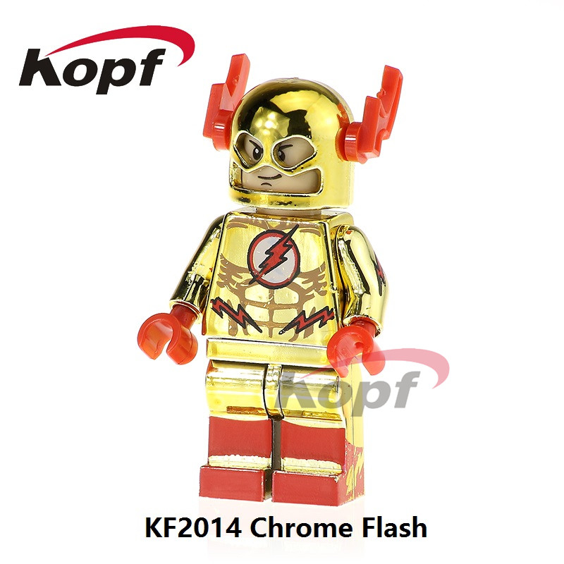 Single Sale Yellow Red Black Chrome Flash Captain America Darth Vader Super Heroes Building Blocks Children Toys Gift KF2014 single sale super heroes thor spiderman captain america batman hawkeye bricks action building blocks toys for children xh 004