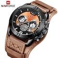 2019 neue NAVIFORCE Top Marke Männer Casual Quarzuhr Military Leder Wasserdichte Armbanduhren Luminous Mode Sport Männlichen Uhr