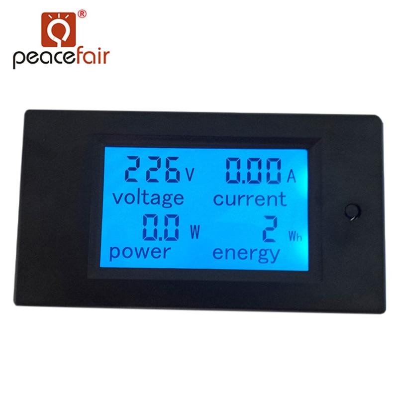 Peacefair AC Monophasé Numérique LCD Ampèremètre Voltmètre 80-260 v 20A 4IN1 Électrique Volt Amp Megter Puissance Kwh pour Homekit PZEM-021