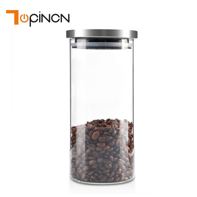 1000ml Tea Coffee Sugar Storage Jars Gl And Lids Bottle Containers Home Kitchen Organization