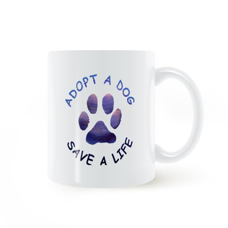 Nehmen eine Hund Pfote Paws Drucken Becher Kaffee Milch Keramik ...