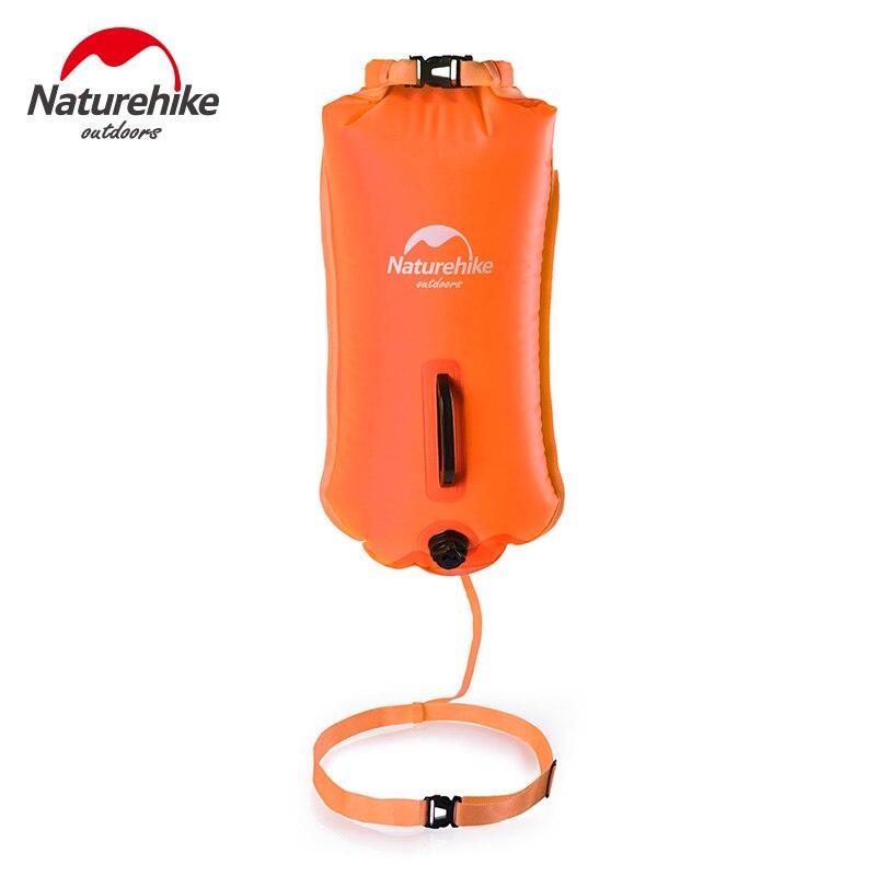 Naturehike 28L надувные Waterpoof одежда заплыва флотации мешок океан реки бассейн безопасности жизни оборудования водостойкий дрейфующих сухой мешок - Цвет: Оранжевый