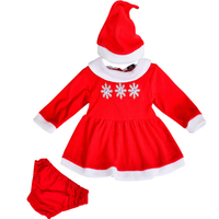Sneeuwvlok sets baby meisje kleding 3 stks/sets nieuwjaar rode peuter sets festival party mode kerstcadeaus bebes sets