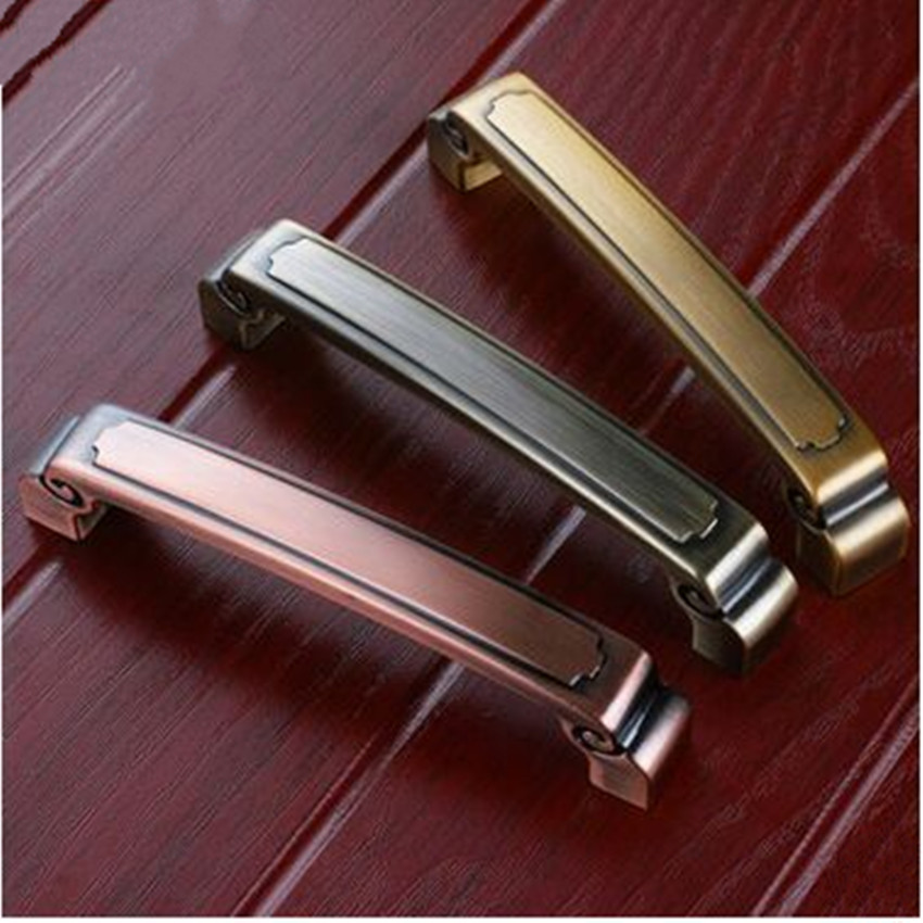 5 vintage style furniture handles 128mm antique brass kitchen cabinet dresser door handle 96mm antique copper drawer pull knob