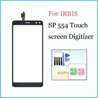 Irbis SP554 터치 스크린 유리 센서 패널 용 새 5.5 인치 Irbis SP 554 핸드폰 용 렌즈 유리 디지타이저