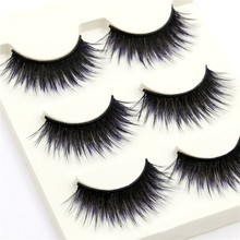 Nature Looking Woman False Eyelashes 3d Mink  Stereo Intersection Thick Fund Black Fake Lashes