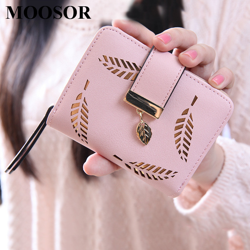 2017 Fashion Wallet Women Lady Short Wallets Women Purse Female 5 Colors Women Wallet  PU Leather Card Holder Day Clutch H26 2017 new women wallets cute cartoon bear lady purse pu leather clutch wallet card holder fashion handbags drop shipping j442