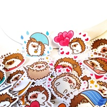 20/40pcs Cute hedgehog life Memo Stickers Pack Posted It Kawaii Planner Scrapbooking Stationery Escolar School Supplies