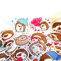 4packs/160pcs Cute hedgehog life Memo Stickers Pack Posted It Kawaii Planner Scrapbooking Stationery Escolar School Supplies