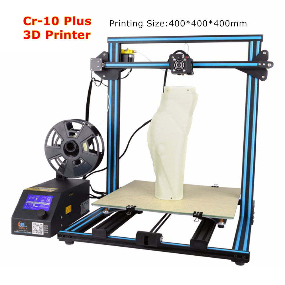 Big Print Size 400*400*400mm Factory Price Creality 3D CR-10 3D Printer Education Person Pulley Version Linear Guide DIY Kit