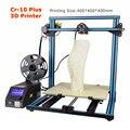Gran Tamaño de Impresión 400*400*400mm Precio de Fábrica CR-10 Creality 3D Impresora 3D Educación Persona Polea Versión Guía lineal Kit DIY