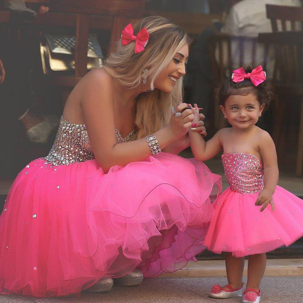 Baratos Nueva Llegada Rosa Madre y Niño Lindo Vestidos de Baile ...