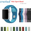 NEW 10 Colors Silicone Strap For Apple Watch NIKE 38mm Women Rubber Sport Bracelet Wrist Band