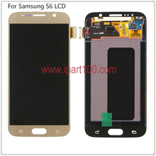 10pcs/lot guarantee quality for samsung s6 good lcd display with touch screen Digitizer Assembly fast shipping DHL