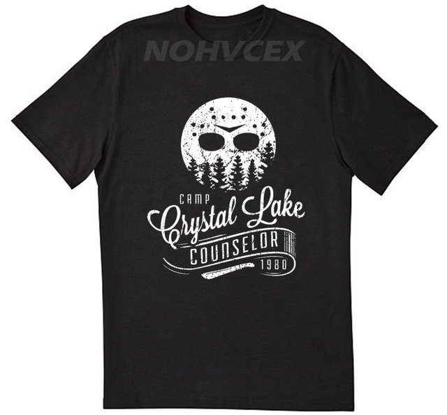 b5290223 jason Friday the 13th Crystal Lake Camp Counselor T Shirt Jason Horror