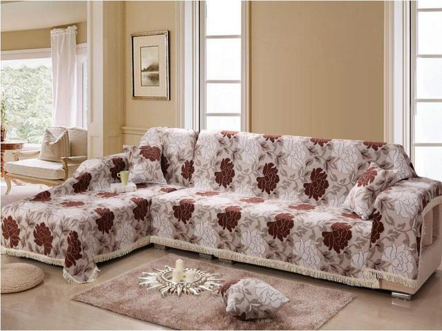 Copri Divano 100 Cotton Thickening Sofa Cover Four Season Fabric Slipcover Newest Design Print Housse De Canape