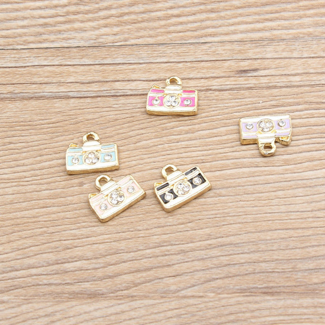 5pc cute enamel metal diy pendant jewelry findings star wing flower 5pc cute enamel metal diy pendant jewelry findings star wing flower camera charms handmade necklace bracelet aloadofball Gallery