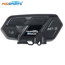 Fodsports M1-S Шлемы-гарнитуры мотоцикл домофон Bluetooth переговорные Мотоцикл домофон для 8 riders подключения BT-S2 Водонепроницаемый