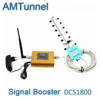 4G repeater signal booster 1800Mhz LTE mobile signal repeater 4G cellphone signal amplifier with Antenna for home or office use