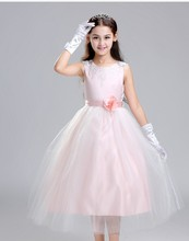 Summer Style Flower Mesh Tulle Tutu Girl Dress Baby Girls Party Dressm Lace Wedding Clothes