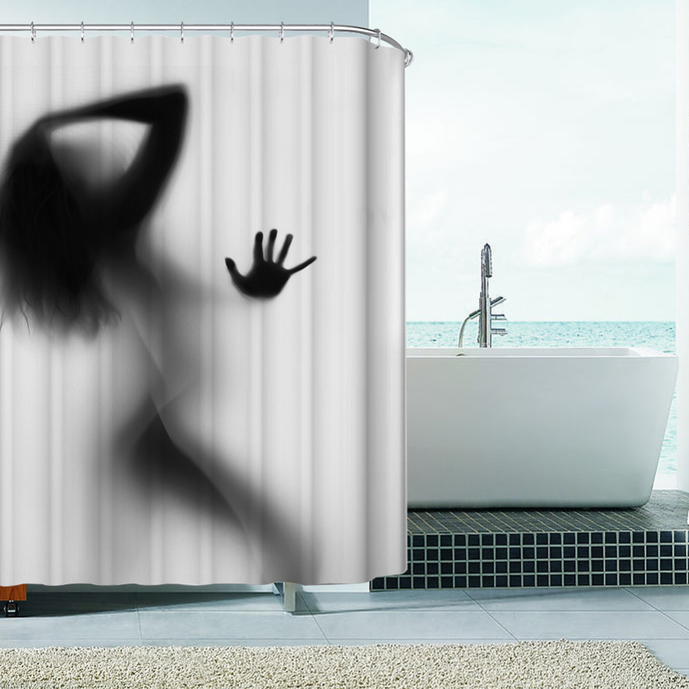 popular shower curtain home decoration sexy buy cheap shower fashion creative sexy girl and women shadow silhouette bath shower curtain waterproof bathroom curtain home decoration