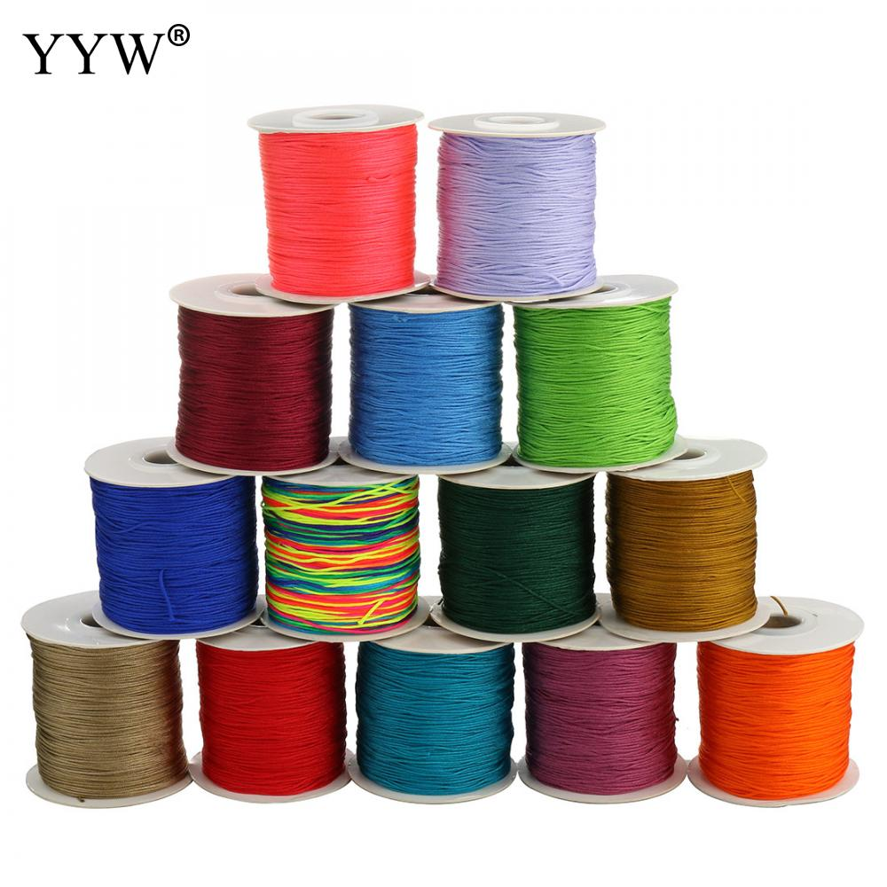 90meter/roll 0.8mm Nylon Cord Thread Chinese Knot Macrame Cord Bracelet Braided String DIY Tassels Beads cord for jewelry making цена