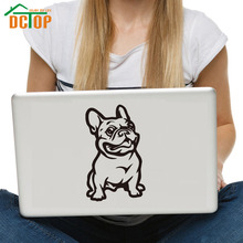 DCTOP French Bulldog Dog Vinyl Art Wall Stickers Self Adhesive Removable Laptop Decals Decoration Modern Design