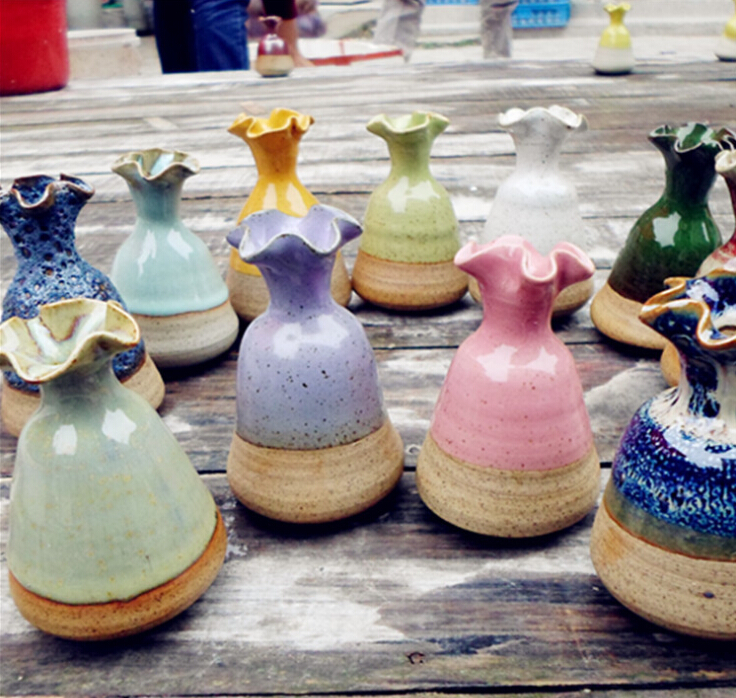 2016 free shipping factory direct sale new ceramic indoor vase for home decro