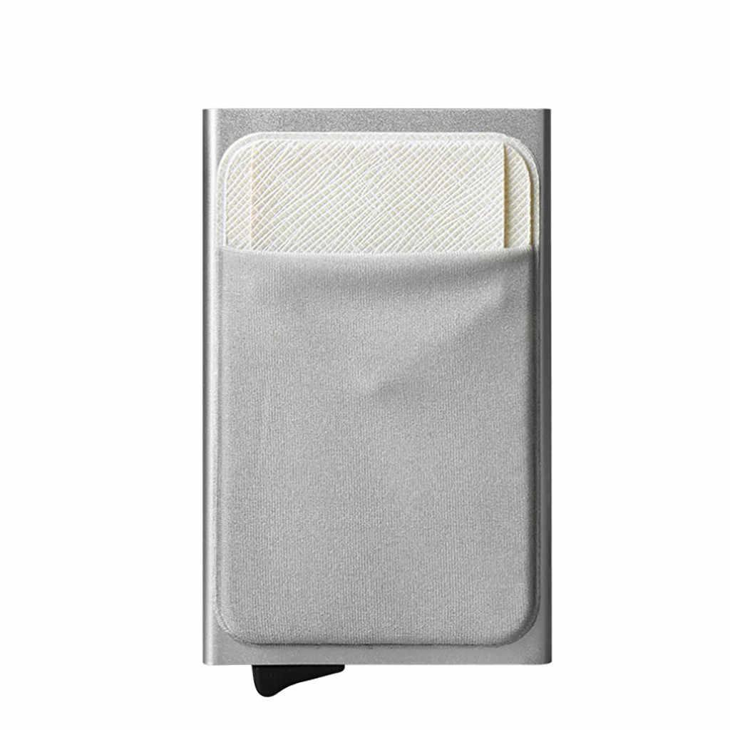 2019 Hot sprzedaży Vintage Unise Auto stopu Aluminium portfel z saszetką na karty spinka na karty kredytowe torebka wsparcie hurtownie Dropshipping