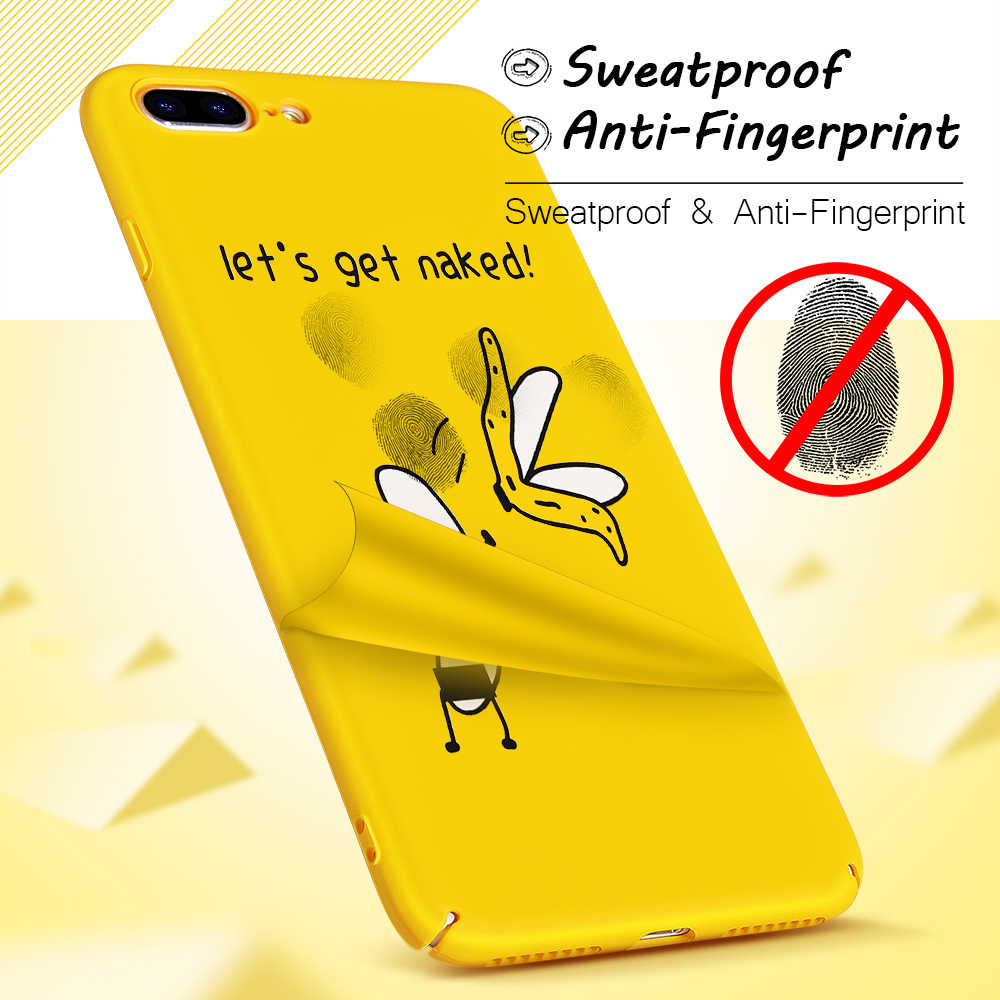 online store 09077 cb93c Hisomone Yellow Phone Cases For iPhone 6 6S Plus Cover Funny Cute Cartoon  Case For Apple iPhone 8 7 Plus X 5.5 inch Capa