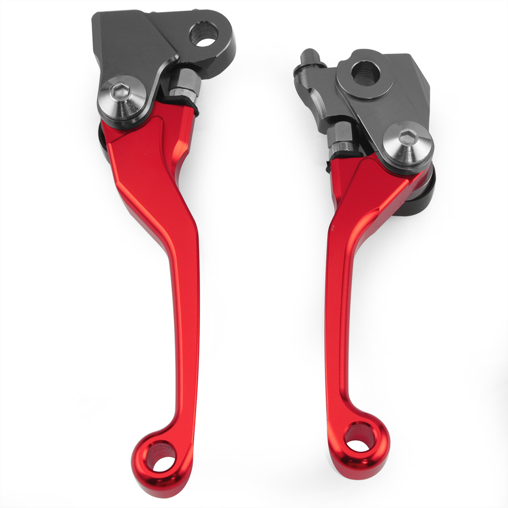 Red CNC Pivot Brake Clutch Levers for Honda CRF250R CRF450R CRF 250R 450R 2007 2008 2009 2010 2011 2012 2013 2014 2015 2016 for victory boardwalk 2013 2015 hard ball 2012 2015 zach ness 2008 2015 jackpot 2010 2011 brake clutch levers sets silver handle