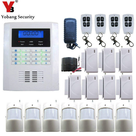 YobangSecurity Wireless GSM PSTN Security System 433Mhz Home Alarm System Russian Spanish Czech Voice PIR/Door Sensor Kit yobangsecurity dual network gsm pstn home security alarm system lcd keyboard english spanish russian voice prompt alarm sensor