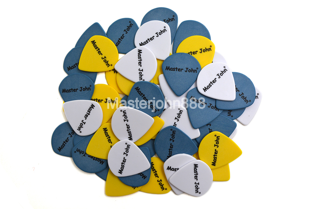 Lots of 100pcs Master John Colorful POM Delrin Jazz Shape Speed Picks Electric/Acoustic Guitar Picks 3 Thickness Assorted image