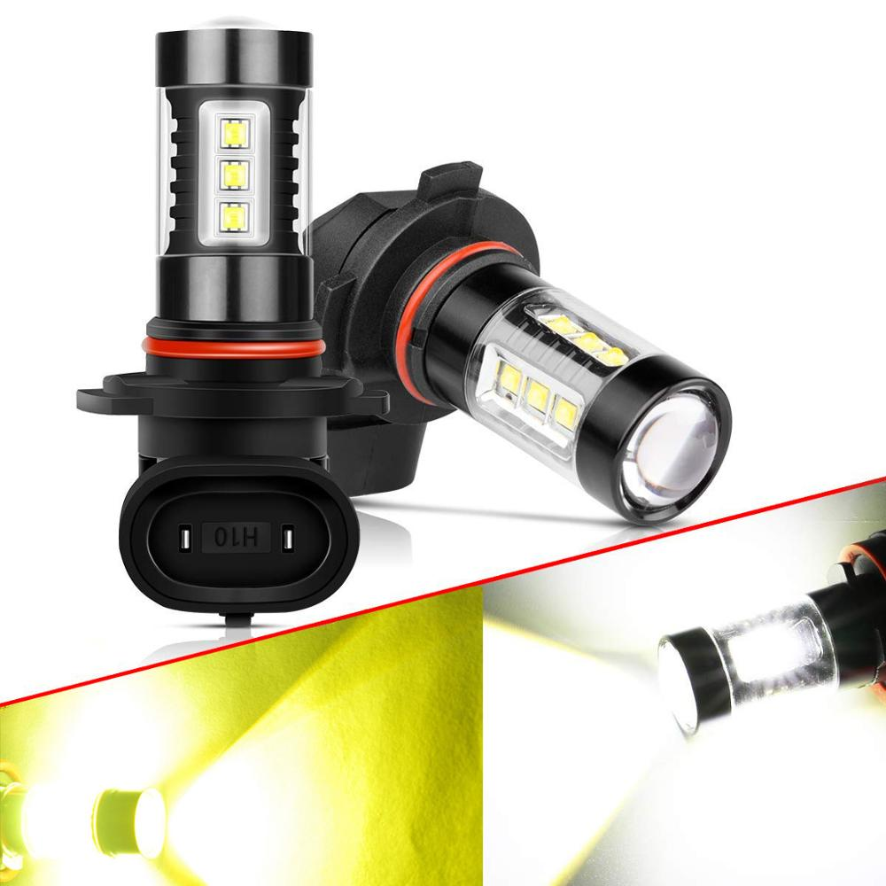 2X H8 H11 LED Bulbs H16 9006 HB3 9005 H3 H10 PSX24W Fog Lights Driving Running Light 16SMD Car Lamp 4000LM 12V Auto 6000K 3000K