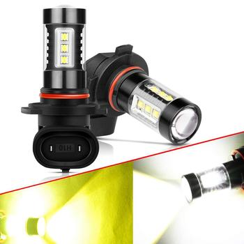 2X H8 H11 LED Bulbs H16 9006 HB3 9005 H3 H10 PSX24W Fog Lights Driving Running Light 16SMD Car Lamp 4000LM 12V Auto 6000K 3000K image