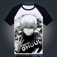 Tokyo Ghoul T Shirt New Japan Anime Ken Kaneki Cosplay Costume Comfortable Breathable Milk Fiber T