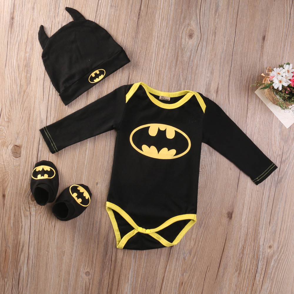 3pcs-hot-cute-baby-clothes-baby-boy-girl-cute-cotton-short-sleeve-batman-romper-jumpsuitcartoon-hatshoes-baby-girl-romper-3