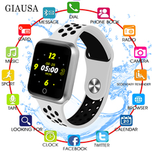 GIAUSA смарт часы Women Men Sport Modes Bluetooth Waterproof Heart Rate Monitor Blood Pressure For Iphone IOS Android