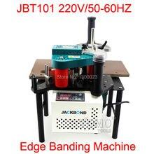JBT101 anillador borde manual de la máquina 220 V con control de velocidad para trabajar la madera franja de borde máquinas