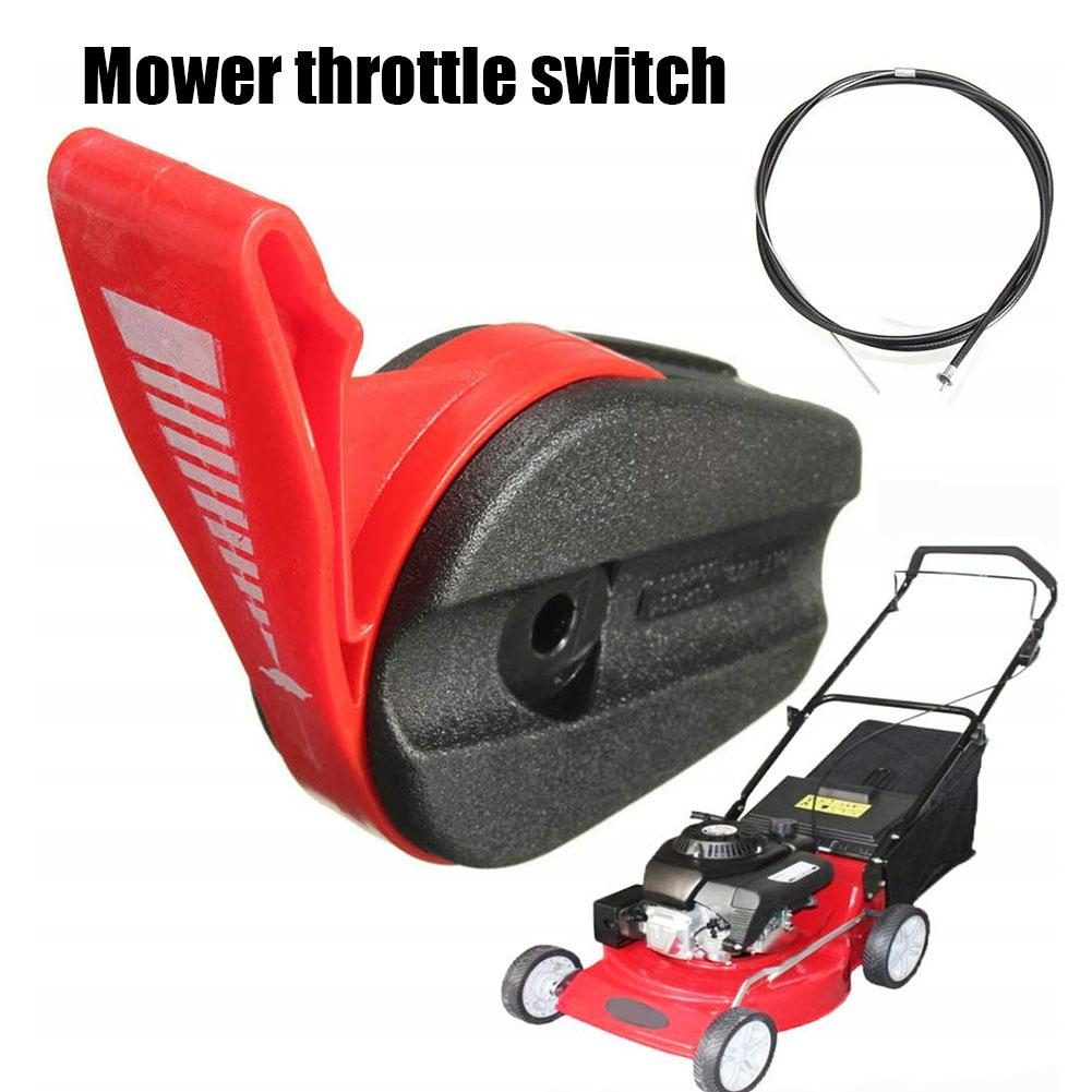Lawnmowers Throttle Cable Switch Lever Control Handle Kit Pull Engine Zone Control Cable Lawn Mower Switch For Garden Tools