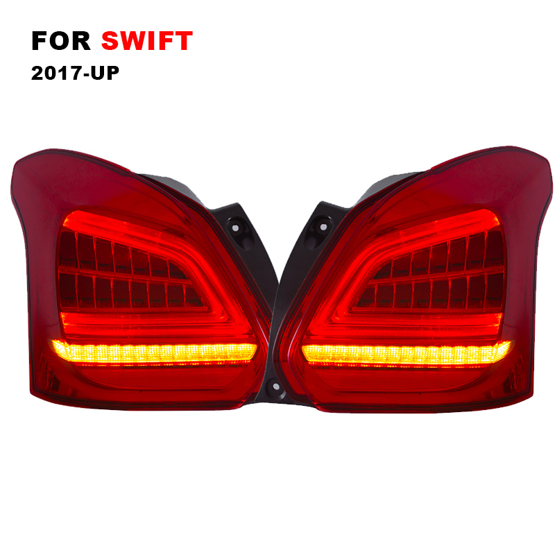 LED Tail Lamp Assembly for Suzuki Swift 2017 2018 LED Tail Light Reverse Light Sequential Turning Signal LightsLED Tail Lamp Assembly for Suzuki Swift 2017 2018 LED Tail Light Reverse Light Sequential Turning Signal Lights